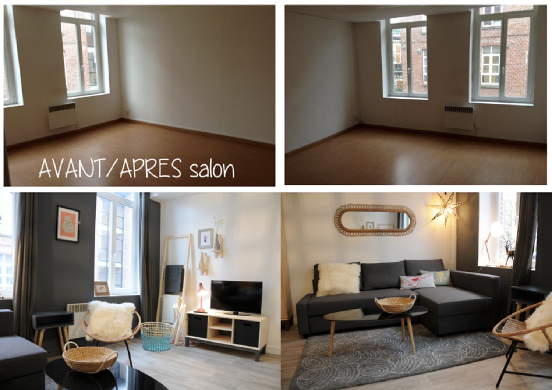 Appartement 75m2 - Orléans Décoration d'un salon