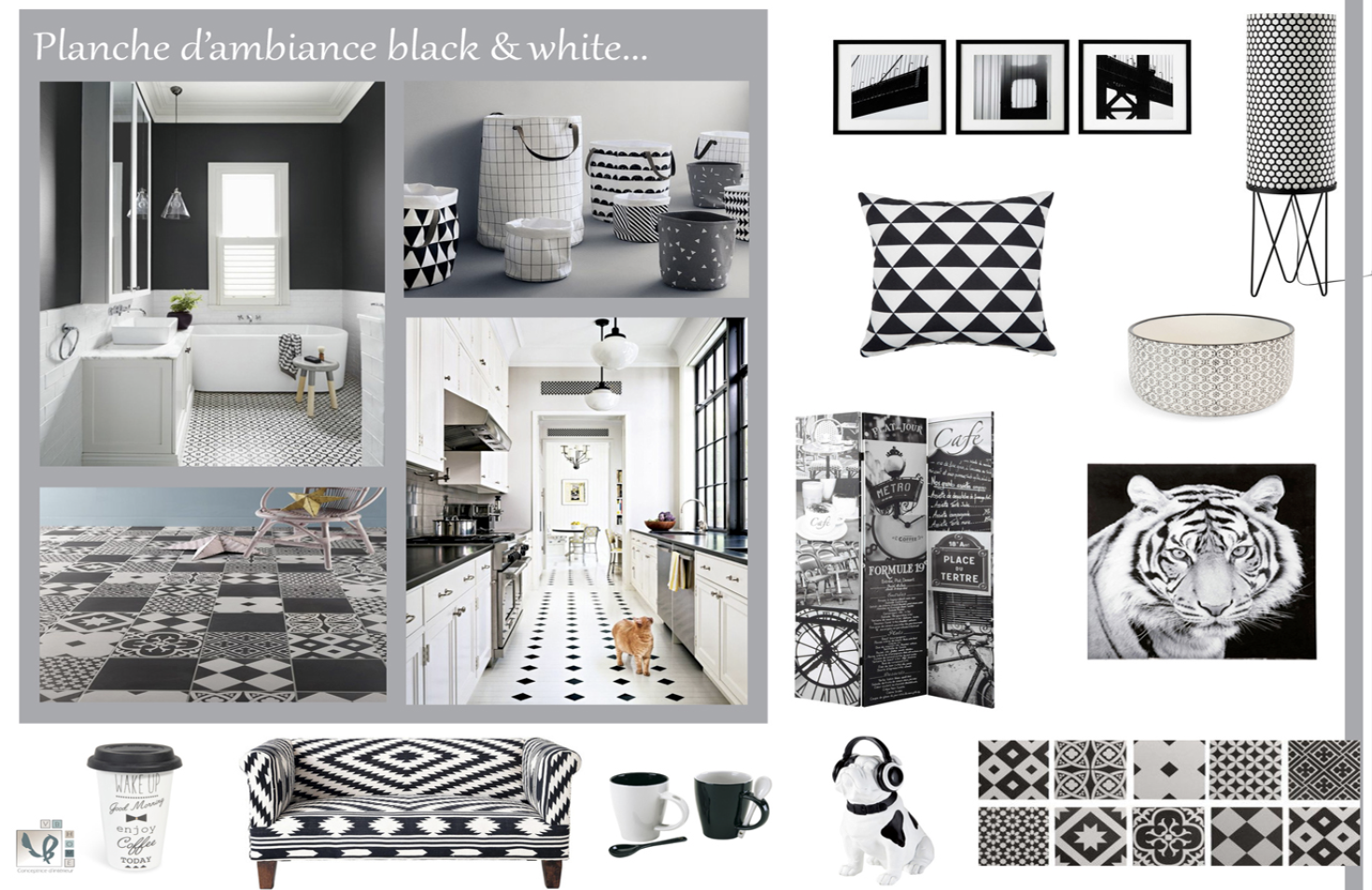 Planche d'ambiance black and white