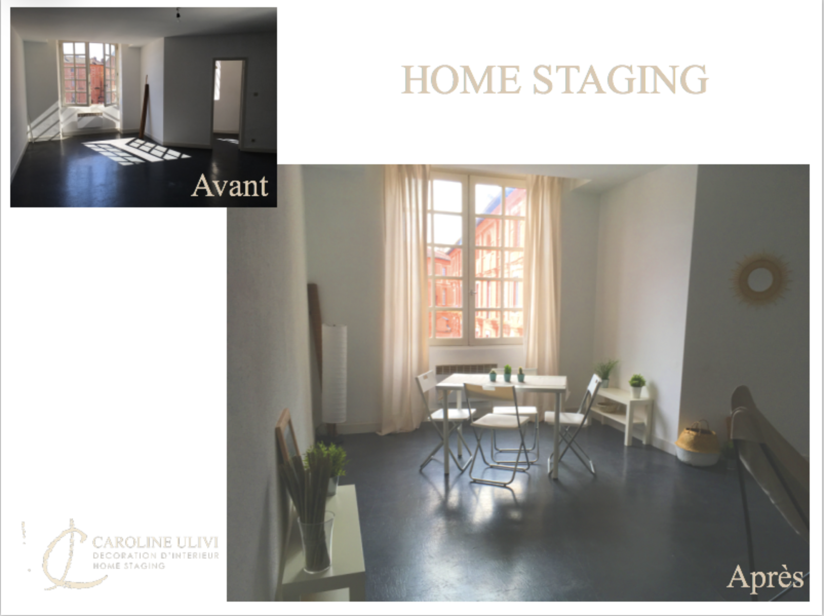 Home staging coin repas